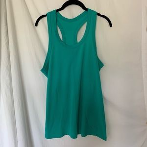 Turquoise athletic racer back top From Nike